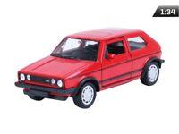 VW Golf I GTI Modellauto ca. 1:34 Metall Spritzguss 12cm rot von WELLY Neu