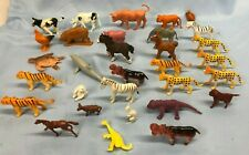 "Vintage lot of 32 Animal Figures Plastic Figures 2"" NM Condition"