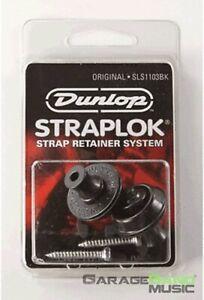 Dunlop SLS1103BK Original Guitar StrapLok System,Black