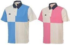 Men's Regular Short Sleeve Check Polo Casual Shirts & Tops