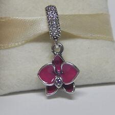 New Authentic Pandora Charm Dangle Enamel Purple Orchid 791554EN69 Box Included