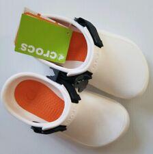 Crocs Unisex Bistro Pro Clog White Roomy Fit Sz Men's 4 Women's 6 (US)/36-37 EUR