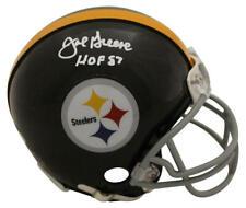 Joe Greene Autographed/Signed Pittsburgh Steelers TB Mini Helmet HOF JSA 23828