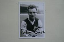 JF Sporting da collezione TRADE card Trevor Meredith (Burnley) firmato da lui stesso