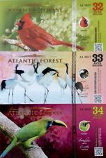 NEW ATLANTIC FOREST 2017 32 33 34 Aves COLOURFUL UNCIRCULATED FANTASY BANKNOTES