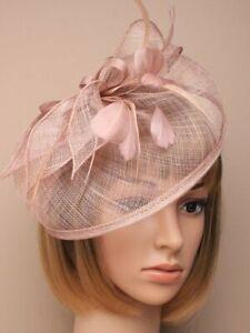 Nude Headband Aliceband Hat Fascinator Weddings Ladies Day Race Royal Ascot