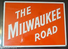 """Microscale Decal #10045 The Milwaukee Road / Metal Sign 8"""" (Non-Embossed)"""