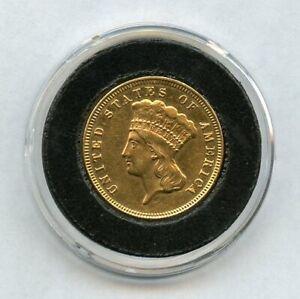1872 $3 Three Dollar Gold Coin