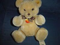 "VINTAGE STEIFF 11"" TEDDY PETSY BLONDE BEAR KNOPF IM OHR 012280 Stuffed Plush"