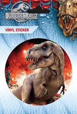 Vinyl Sticker / Aufkleber JURASSIC WORLD - T-Rex - Rund ca9cm (SK0422) NEU