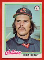 1978 O-PEE-CHEE #138 Dennis Eckersley EX-EXMINT+ SCARCE Cleveland Indians
