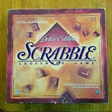 Scrabble Deluxe Edition Turntable Board Game 1999 Milton Bradley 100% Complete