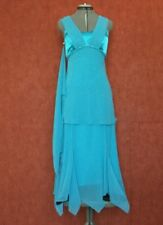 Beautiful wedding/cocktail party dress,size 8,blue-turquoise,