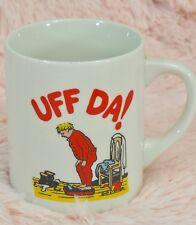 UFF DA Coffee Mug - Norwegian Man/Boy on Scale/Diet - Bergquist Imports