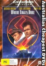 Where Eagles Dare DVD NEW, FREE POSTAGE WITHIN AUSTRALIA REGION ALL
