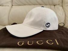 NEW GUCCI WHTE BASEBALL CAP HAT ALL SIZES S M L XL