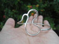"Sterling Silver - Hammered Freeform BABY Wire Bangle 9.6g - Bracelet (7.0"")"