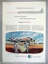 Douglas Aircraft PRINT AD - 1953 ~~ Radome Jet Plane