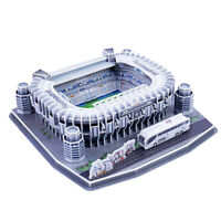 3D Architecture Puzzles Jigsaw Puzzle DIY Model Kit Bernabeu Stadium Gifts