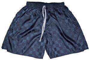 Navy Blue Checker Nylon Soccer Shorts by Augusta - Men's Medium