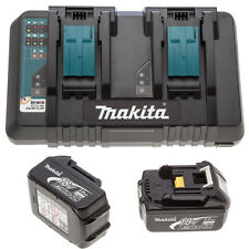 Makita BL1830 18 V 2 x LXT 3.0ah Lithium-ion Batteries + DC18RD Double Port Chargeur
