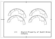 Drum Brake Shoe-Dash4 Shoes Rear Pronto S245R