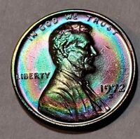 1972 S - ABSOLUTELY STUNNING - MONSTER TONED - LINCOLN MEMORIAL CENT  #10489