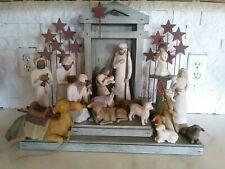 Willow Tree Nativity Set Shepherd Stable Angels Demdaco Susan Lordi
