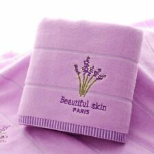 Towel Set Face Bath Adults Washcloths Cotton Embroidery Lavender High Absorbent
