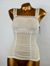 ARIANNE - TAILLE XS - Haut Caraco Tulle Dentelle 5743, Coloris : Blanc