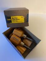 Vintage Stanley Brand Stubby Screwdrivers NOS Unused Box; Phillips Type; Qty 6