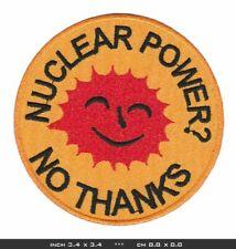 NO NUCLEAR POWER Aufnäher Patches Bügelbild Frieden Naturschutz Greenpeace