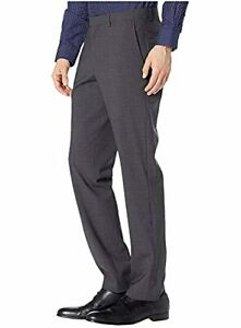 Cole Haan Men's Slim Fit Stretch Custom Pant (Charcoal, 33X32)