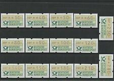 Automaten-Postwertzeichen 1981 Deutsche Bundespost 14 Werte postfrisch