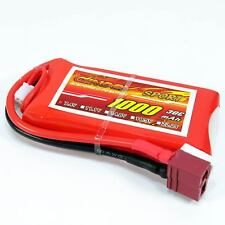 7.4V 2S 1000mAh 30C LiPO Battery T plug Burst 60C High Rate RC model Lipolymer