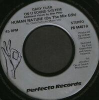 "GARY CLAIL ON-U SOUND SYSTEM human nature 7"" WS EX/ uk perfecto PB 44401 noc"