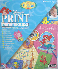 Disney Little Mermaid Print Studio with Bonus Photo Ready Projects New Sealed