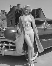 MARILYN MONROE WITH CAR CELEBRITY HOLLYWOOD 8X10 GLOSSY PHOTO PICTURE