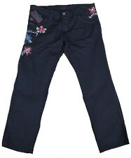 Original ENERGIE TONY CHAMPER 2 TROUSERS Embroidery Black JEANS TROUSERS 36/32