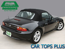 """96-02 BMW Z3 Convertible Top Black Stayfast Cloth, Cables & Rain Guards""""Robbins"""