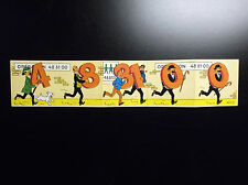 RARE Série complète d'autocollants Tintin Tombola opération 488100 1974