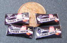 1:12 Scale 4 Paper Chocolate Bar Packets Tumdee Dolls House Sweet Accessories