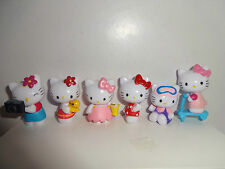 HELLO KITTY CAKE TOPPERS 6 PLASTIC FIGURES BRAND NEW FREE P+P