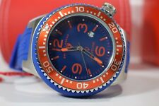 Swiss Legend Men's Neptune Watch Blue Dial Red Bezel Silicone SL-21818S-C-BS