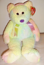 "NWT Ty Beanie Buddies Groovy Pastel Soft 13"" Bear 1999 Retired 4th Generation"