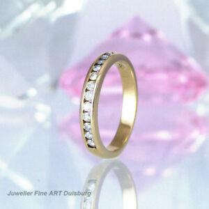 Ring in 585/- Gelbgold - 12 Diamanten 0,60 ct. Wesselton/VSI