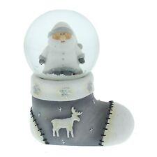 Widdop & Co Santa In Stocking Snowglobe