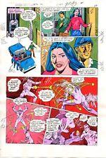 Original 1984 Green Lantern 176 DC Comics color guide art page 17: Dave Gibbons