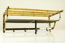 Wand Garderobe Kleider Haken Bambus Messing Vintage Österreich 50er Jahre Tiki