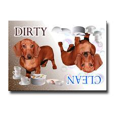 DACHSHUND Clean Dirty DISHWASHER MAGNET No 5 Puppy